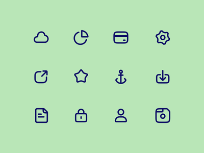Icon Set 2 stroke line icon line art icons set icons pack icons