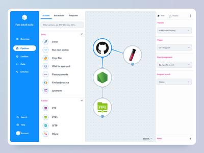 Buddy - Adding New Pipeline sketch web design development ux ui deployment dashboard new pipline buddy