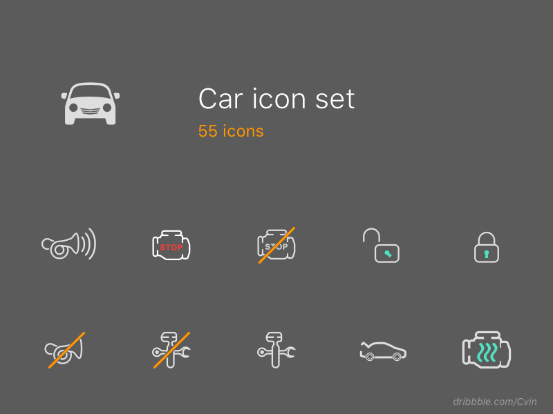 car icon set  svg by Ivan Zaytsev | Dribbble | Dribbble