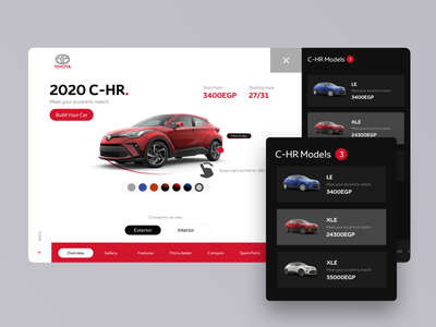Toyota Showroom 2020 modern typography branding illustration clear automotive interface business design ui ux