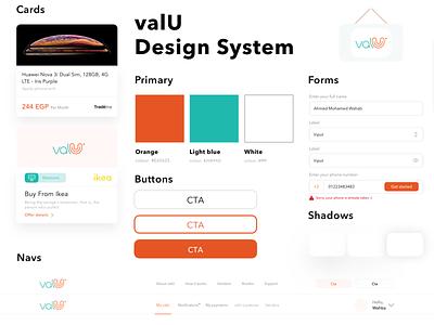 valU | Design system typography webdesign startup marketing landingpage system design system app clear modern product web interface business design ui ux