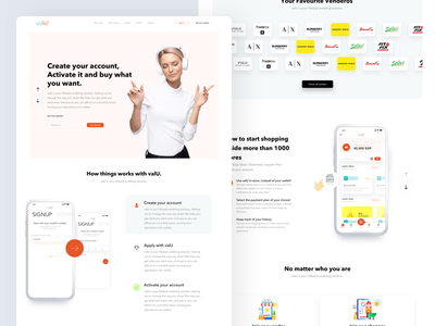 valU | installments solution platform payment credit cards fintech app clear modern product web interface business design ui ux