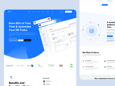 Jisr HR & Payroll Platform | Landing Page ux product sas hr cloud ui website landing page