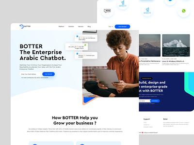 BOTTER | Enterprise Chatbot Builder AI-based modern design website landing page ai
