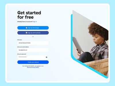 BOTTER | Enterprise Chatbot Builder AI-based sign in website interface registration signup ui ux