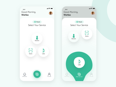 Patient Area | Medical services branding patient startup product modern interface design cards services health medical app ux ui app design app