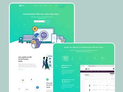 BOTME V1 | Online chatbots SAS Builder illustration modern landingpage website marketing dashboard chatbot sas business interface design ui ux