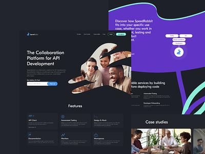 SpeedRabbit | API Development collaboration platform website landingpage modern startup product clear interface business design ui ux