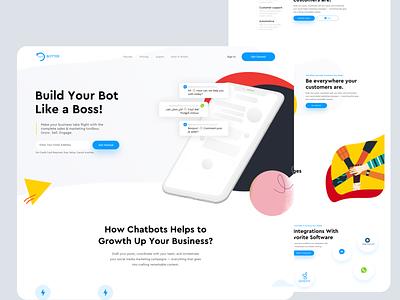 BOTTER | Enterprise Chatbot Builder AI-based startup product interface business ux ui design landing page