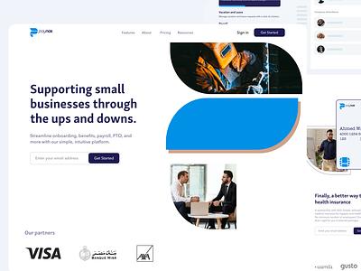 Paynas | HR & Payroll system | Rebranding web app startup landingpage interface business design ui ux