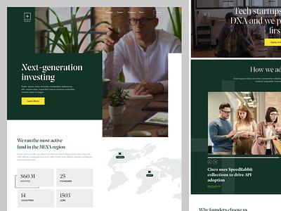 Plus.vc | Venture Capital website system vc product branding modern interface business design ui ux