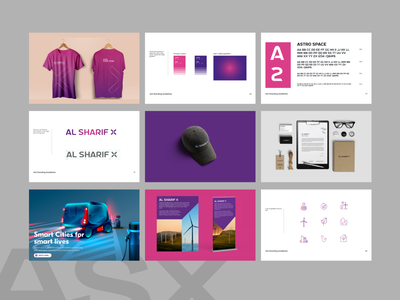 ASX | Brand book Creation brand design brand book brandidentity branding modern interface business design ui ux