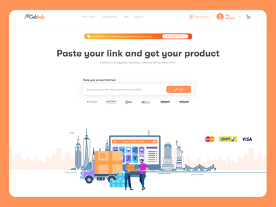 Gebhaly | Online E-Commerce Website animation app clear modern product web interface business design ui ux