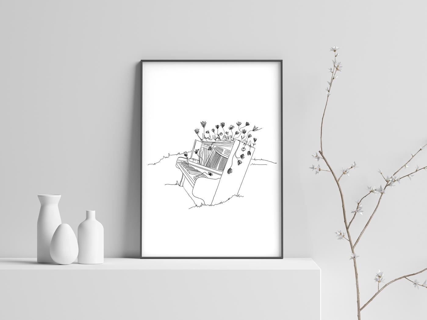 The Piano Tuner print ipadpro procreate yerevan illustration graphic design