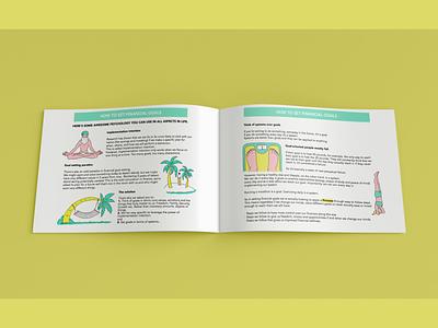 Illustrations and design for a workbook pdf pitch deck presentation drawings doodles design illustration graphic design