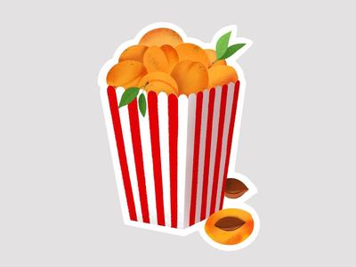 Sticker for the Golden Apricot International Film Festival