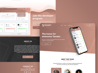 Landing page - Geometric Software branding ios app design website ui ui webdesign web design website landingpage