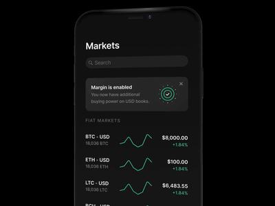 Margin Trading on Coinbase Pro margin ethereum ios onboarding fintech trading crypto bitcoin app