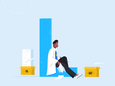 L stands for lean. alphabet letter boxes tablet paperwork tech explainer business digital vector technology tech motion graphics motion illustration explainer design character animation animated explainer 2d