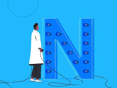 N stands for non-disruption. tech explainer business digital vector technology tech motion graphics motion illustration explainer design character animation animated explainer 2d