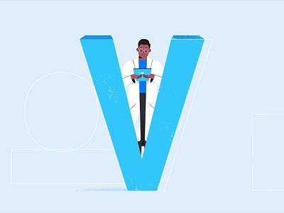 V for Versions version vaccine virus letter v tech explainer business digital vector technology tech motion graphics motion illustration explainer design character animation animated explainer 2d
