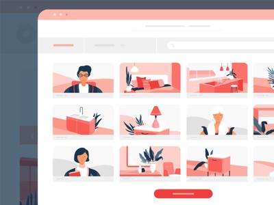 UI Screen for Interior Design Startup
