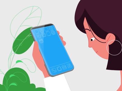 Upgrading Phones woman illustration devices phones ui 2d animation app business people characters design digital illustration mobile motion motion graphics tech explainer technology vector video hands