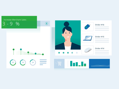 Sales Dashboard tech explainer icon video vidico graphics ecommerce business ux ui dashboard explainer animation digital character technology design 2d vector illustration motion graphics animation