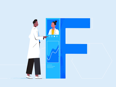 F is for Future Proofing slinky colorful bell bottoms furby letter f tech explainer business digital vector technology tech motion graphics motion illustration explainer design character animation animated explainer 2d