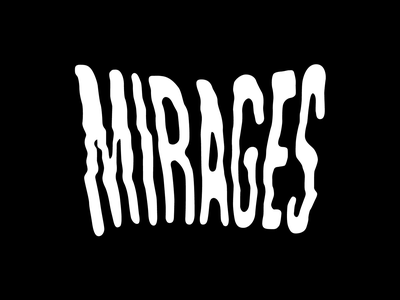 Mirages Logo logotype branding and identity logo design tee-shirt logo branding mirage