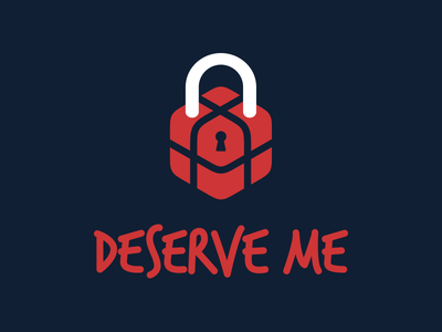 Logotype for Deserve me app typeface source sans logotype logo lettering custom