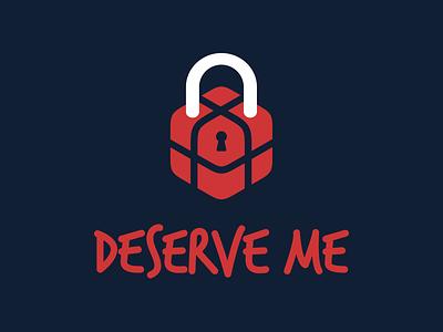 Logotype for Deserve me app typeface source sans logotype logo lettering custom