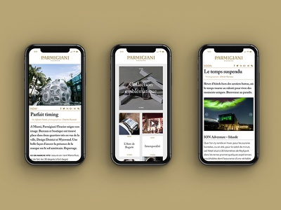 Precious Moment Parmigiani Website design editorial watches luxury iphone webdesign design website