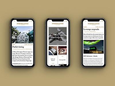 Precious Moment Parmigiani Website design editorial watches luxury iphone webdesign design website