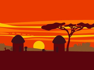 Africa Illustration for ARB Music africa landscape illustration