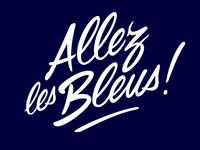 Lettering «Allez les Bleus !»