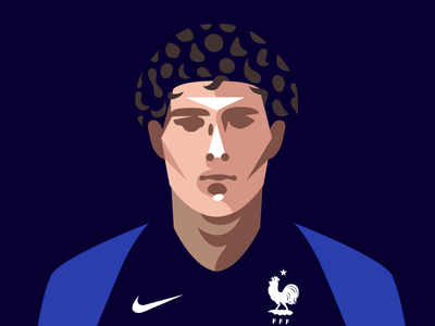 Portrait of Benjamin Pavard benjamin pavard fifa worldcup vector portrait photoshop benjaminpavard illustrator illustration graphic football equipedefrance