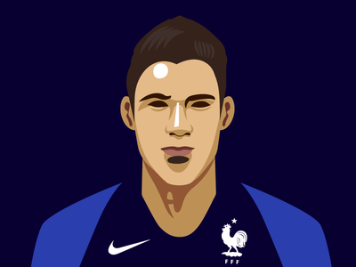 Portrait of Raphaël Varane equipe de france raphael varane worldcup vector portrait photoshop illustrator illustration graphic football fifa raphaelvarane