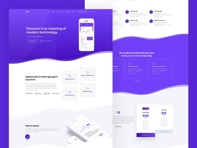 Pixi creative theme web ux ui design