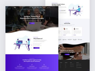 Pixi - Creative Multi-Purpose WordPress Theme one page ux uidesign multipurpose web creative busines theme agency design agency wordpress design