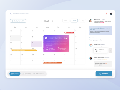 Calendar Event dailyui message comment file glassmorphism gradient popup notification event calendar product design web design clean
