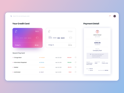Payment Invoice table dashboad money receipt credit card invoice payment gradient product design web design clean