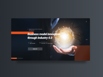 Landing Page - Digital Transformation in Business