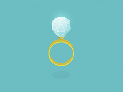 Ring minimal illustration icon flat design