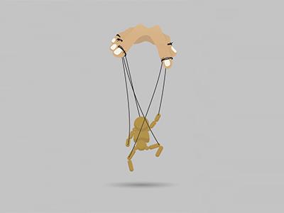 Marionette minimal illustration icon flat design