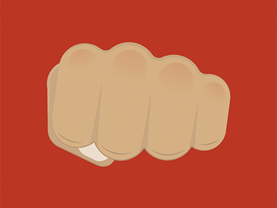 Fist fist logo icon vector minimal illustration flat design