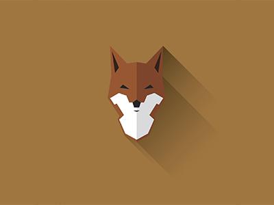 Fox fox logo vector minimal illustration icon flat design