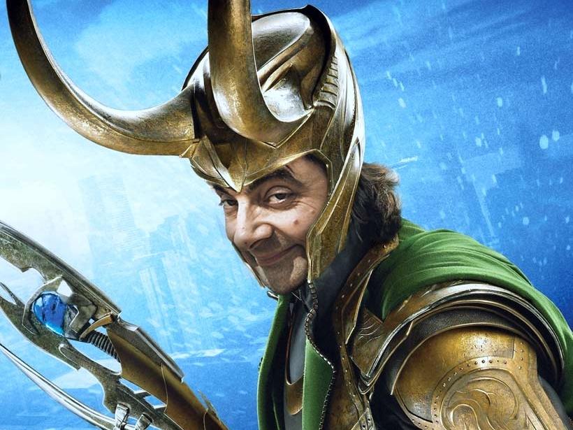Mr. Bean as Loki design photoshop art retouching loki mr. bean