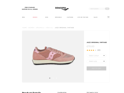 Saucony Product Page