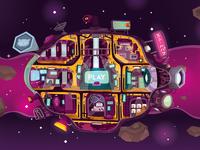 Super SteamPuff Spaceship